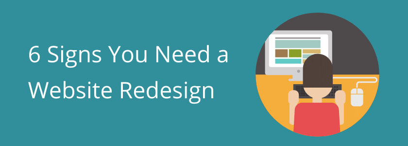 6 signs you need a website redesign graphic SMT